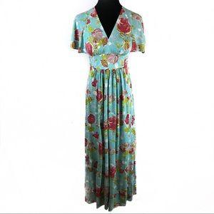 Stunning vintage 70's roses dresses